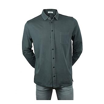 Replay Jeans Replay Mens Long Sleeve Pocket Polo Shirt Washed Black