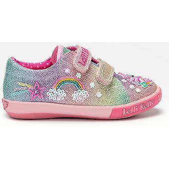 Lelli Kelly LK7077 Treasure Rainbow glitter shoes