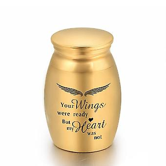 Angel Wings Small Keepsake Urn Human Ashes Keepsake Mini Cremation Urn
