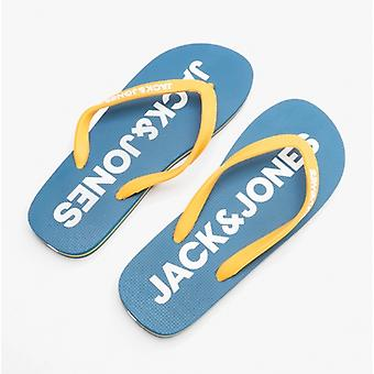 Jack & Jones Logo Pop Miesten Kumi Flip Flops Mykonos Sininen