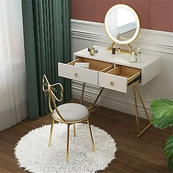 2x Dressing Table Stool Chair Maquillage Vanity Seat W/dossier