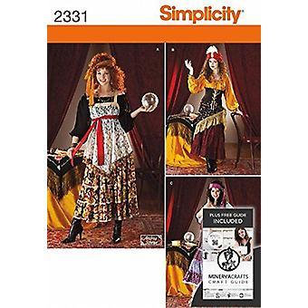 بساطة نمط الخياطة 2331 يفتقد الغجر الأزياء أحجام 6-12 HH