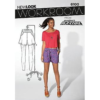New Look Sewing Pattern 6100 Misses Shorts Size 8-18 Euro 34-44