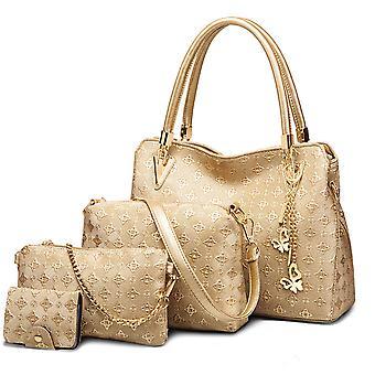 Fashion backpack female bag casual school bag lady handbag multi-piece set