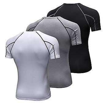 Menn kortermet kompresjon skjorte pakke med 3