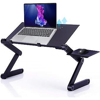 Wokex Laptop Stnder Hhenverstellbar Laptoptisch mit Mausablage Klappbar Notebook Stnder aus
