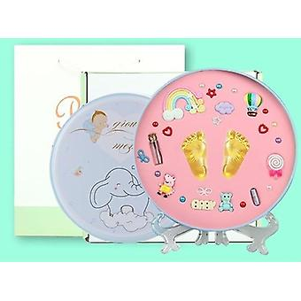 Kit de impresión de pie y huella de bebé, molde cien días