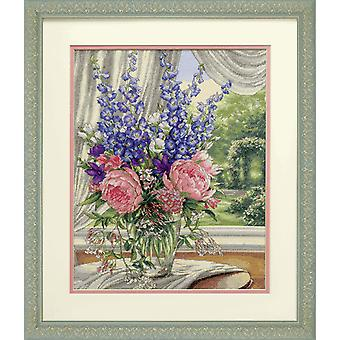 Dimensions Gold: Counted Cross Stitch: Peonies & Delphiniums