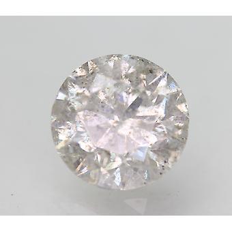 Sertifioitu 2,22 karat H SI3 pyöreä brilliant parannettu luonnollinen löysä timantti 8,05mm