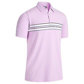Callaway Golf Mens 2021 Jaspe Chest Stripe Opti-Dri Wicking Golf Polo Shirt