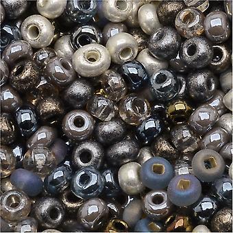 Cuentas de semillas de vidrio checas, 6/0 Round, 1 onza, mezcla de metales pesados