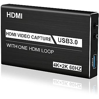 FengChun Video Capture Card USB 3.0 4K Audio Videoaufnahmekarte mit tragbarer