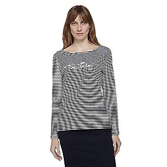Tom Tailor 1026222 Striped T-Shirt, 27211 Navy Offwhite Bigger, L Woman