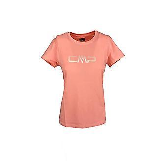 CMP Cotton T-Shirt 30d6536p, Women,, Flamingo, 42