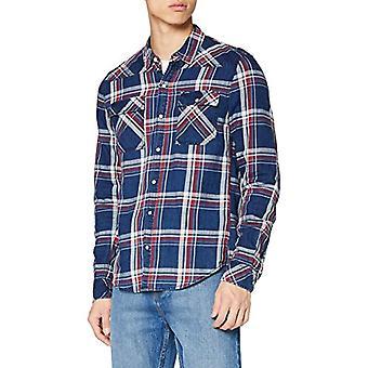 Garcia T01229 Shirt, Indigo, S Uomo