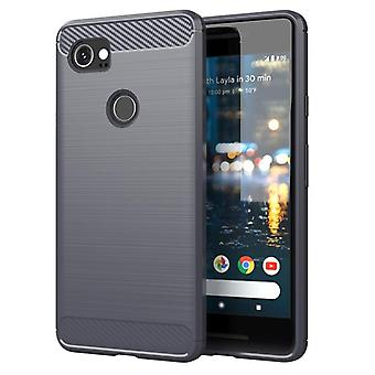 Tpu carbon fibre case for google pixel 2xl grey mfkj-174