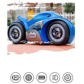 Vehículo Juguete RC Motocicleta Drift Juguetes Motor Eléctrico Música &Luz LED Eléctrico Niños Regalo(Azul)