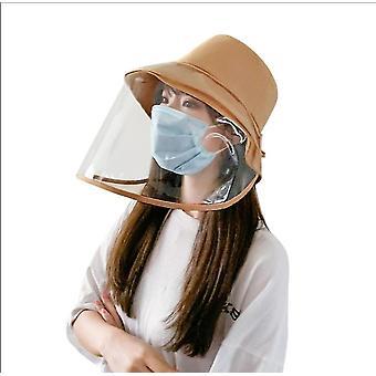 1ks hnedá ochranná čiapka proti sliepkam odnímateľný štít x1721