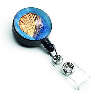 Caroline s Schätze Muscheln versenkbare Abzeichen Reel, multicolor (8009Br)