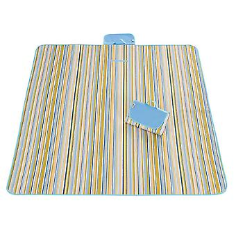 Yellow and blue 145x180cm outdoor moisture-proof waterproof oxford cloth picnic blanket mat striped park blanket necessary for picnic homi2825