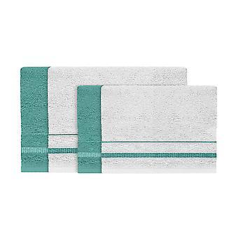 Asciugamano Estate, Colore Azzurro, Bianco in Cotone, L40xP60 cm, L60xP100 cm