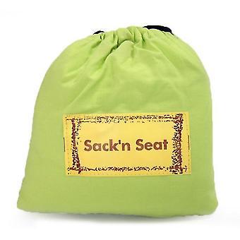 Cubierta de la silla elevador extra grande, cubierta protectora del asiento de la silla de comedor para el asiento elevador (VERDE)