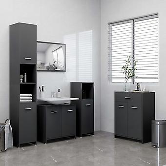vidaXL 4 pezzi. Set mobili da bagno Grigio