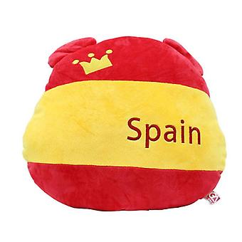 Spain Flag Bear Plush Lumbar Pillow