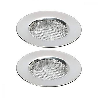 Drainage Filter, 2pcs Stainless Steel Fine Mesh Sink Filtrate For Kitchen Bathrooms