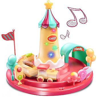 Musical Spinning Pociąg Toy Edukacyjna Nauka Zabawki dla 1 roku Stary Chłopiec