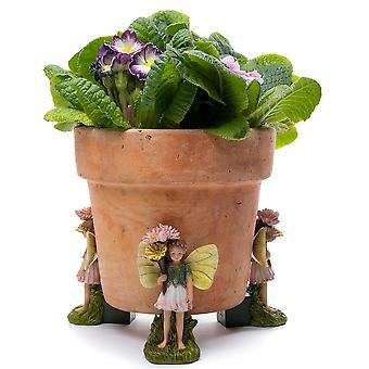 Potty Feet Flower Fairies Daisy Fairy Plant Pot Feet Multicolor 3pc