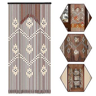 Wooden Bead Hanging Door Curtain - Household Bathroom Porch Partition