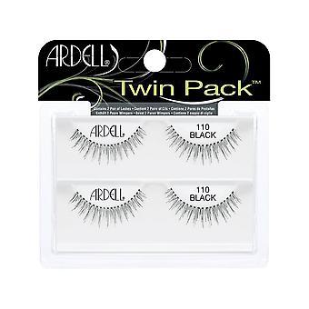 Ardell Twinpack 110 svart lett å påføre naturlig utseende falsk stripe øyevipper