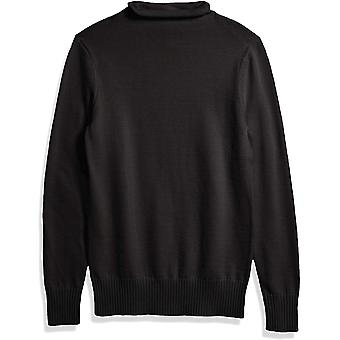 Essentials Women's Long-Sleeve 100% Cotton Roll Neck Sweater