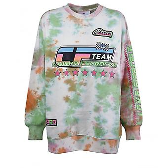 Chiara Ferragni Tie Dye Racing Multicolor Sweatshirt