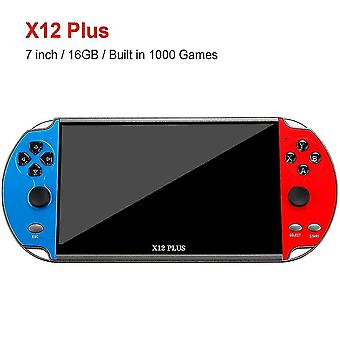 Video game consoles x12 plus 7 inch video game console built in 1000 games 16gb handheld double joystick game controller