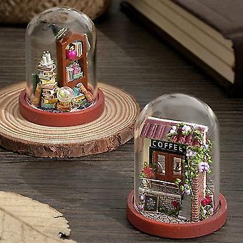 Cutebee diy huis houten pop huizen miniatuur poppenhuis meubels kit met led speelgoed voor kinderen