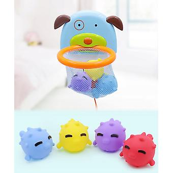 Wasser Spielzeug Hund Bad Spielzeug Basketball Board mit 4 Teich Gummi Tiere