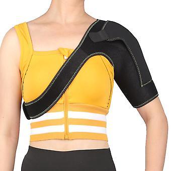 La sangle de soutien d'épaule noire s'adapte à gauche pour le soutien de compression réglable de prévention des blessures sportives