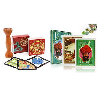 Jeu de société de jungle Brown Wood Token Speed Jaipur Jeu de cartes pour enfants Adultes Fête en famille Règles anglaises et espagnoles