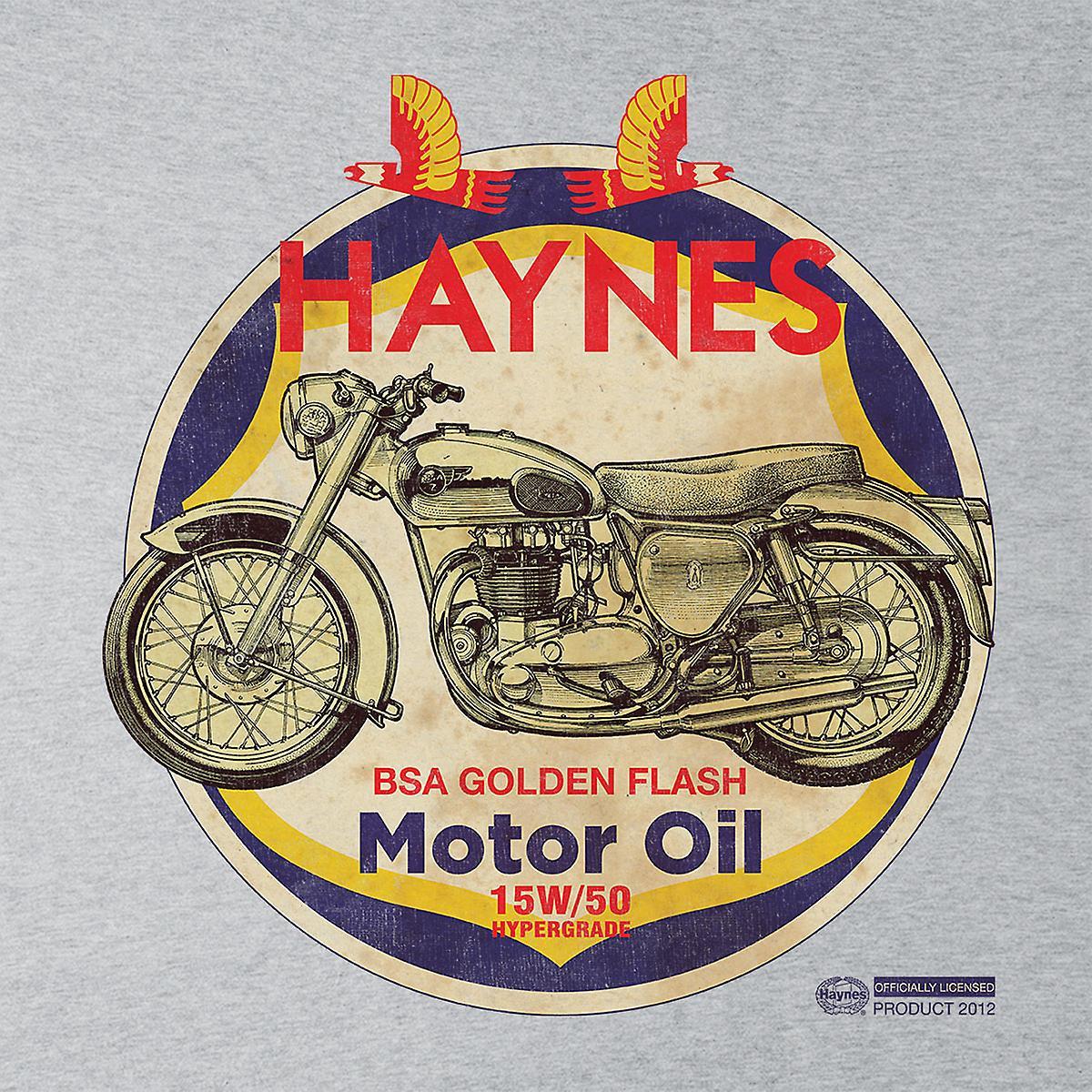 Haynes Brand Richfield BSA Motor Oil Distressed Kid's Varsity Jacket