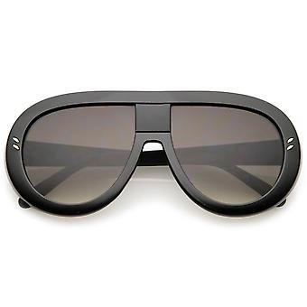 Gran tamaño grueso lágrima forma plana lente aviador gafas de sol 58mm