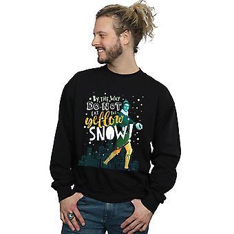 Sweat-shirt jaune neige elfe masculin
