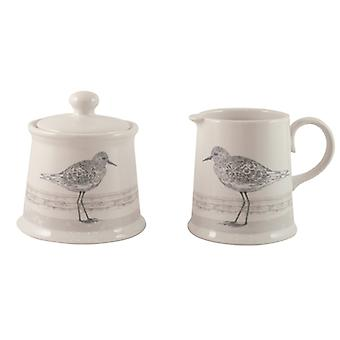 English Tableware Co. Sandpiper Sugar Bowl and Creamer Jug Set