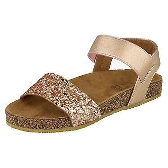 Girls Spot On Glitter Mules - Rose Gold Textile - UK Size 10 - EU Size 28 - US Size 11
