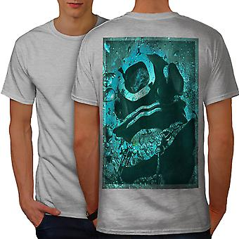 Sea Mystic Design Fantasy Men GreyT-shirt Back | Wellcoda