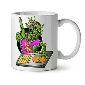 DJ Zombie Music Fashion NEW White Tea Coffee Ceramic Mug 11 oz | Wellcoda