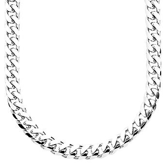 Sterling 925 Silver curb chain - MIAMI CUBAN 7 mm