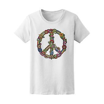 Signe de hippie Tee femmes-Image de Shutterstock