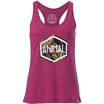 Animal Tropic Hex Sleeveless T-Shirt in Damson Purple